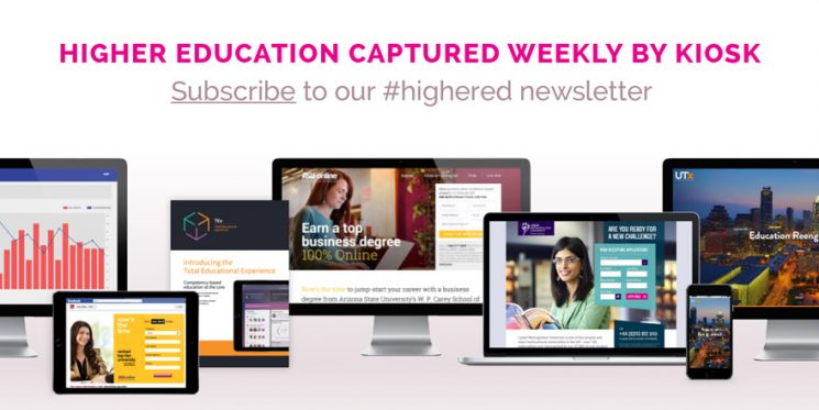 Kiosk Launches Higher Education Newsletter