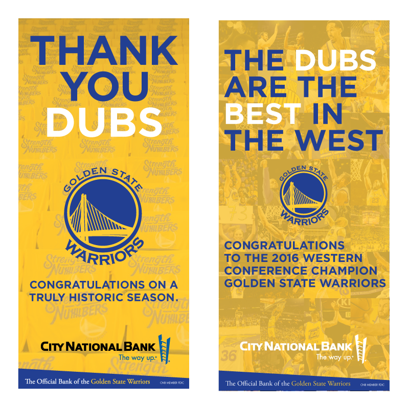 Warriors Ads