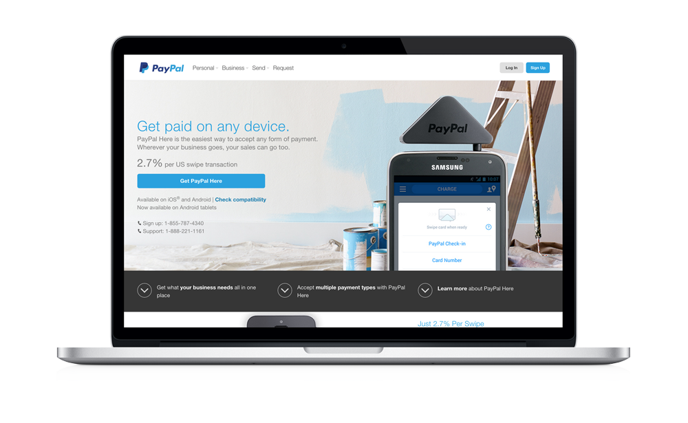 Pay Pal Here Screen