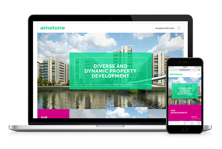 Kiosk's new website for Amstone