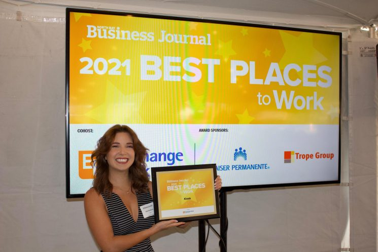 Deb at North Bay Business Journal Best Places to Work Awards 2021
